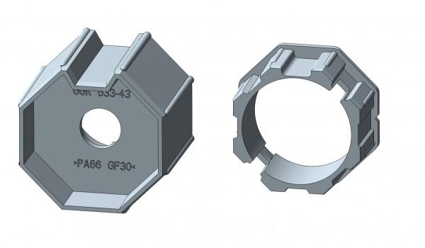Achtkantstahlwelle für Intelligente Rohrmotore
