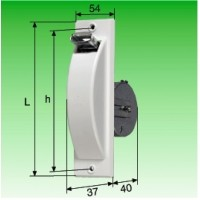 Halbeinlaß-Gurtwickler,S=74-109mm, h=260mm, L=298mm