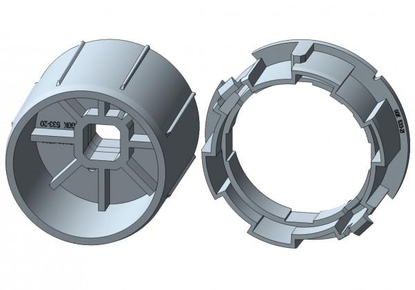 Rundwelle für mechanische Rohrmotore