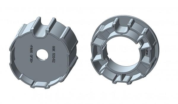 Nutrohr mit Flach-/Rundnut für Intelligente Rohrmotore