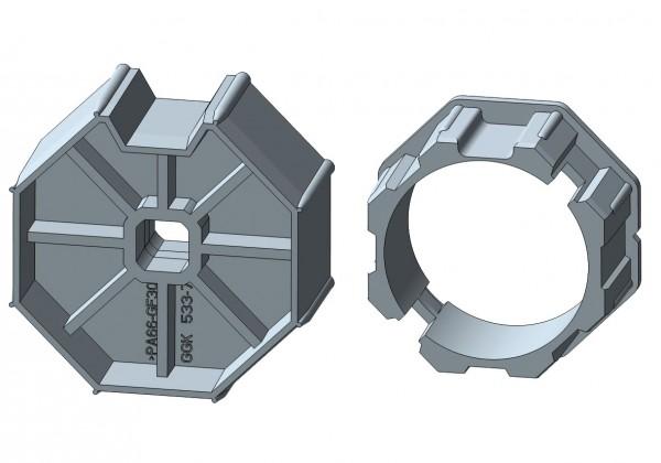 Achtkantstahlwelle für mechanische Rohrmotore