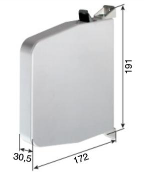 Mini-Gurtwickler, aufschraubbar, für 15mm Gurt, weiß